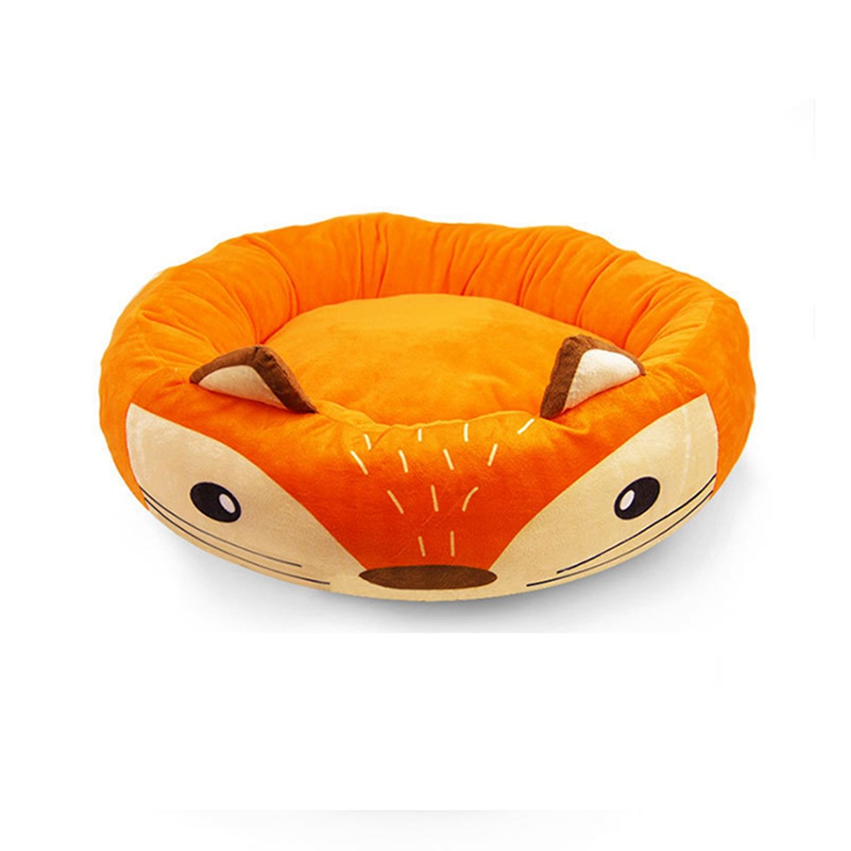 orange S orange S SENERY Dog Bed Lion Cow Rabbit Cat House Round Puppy Bed Mat Warm Cushion Kitten Sofa Pet Beds for Small Medium Large Dog
