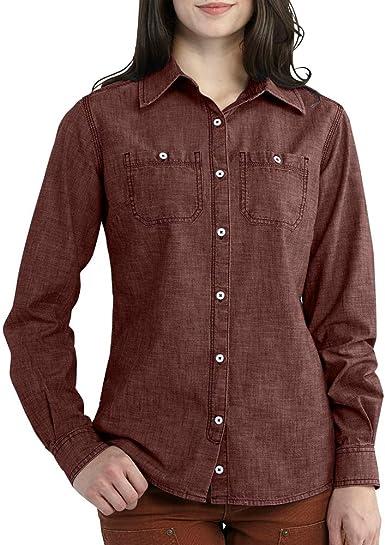 Carhartt Milam - Camisa para mujer - Marrón - X-Small: Amazon.es: Ropa y accesorios