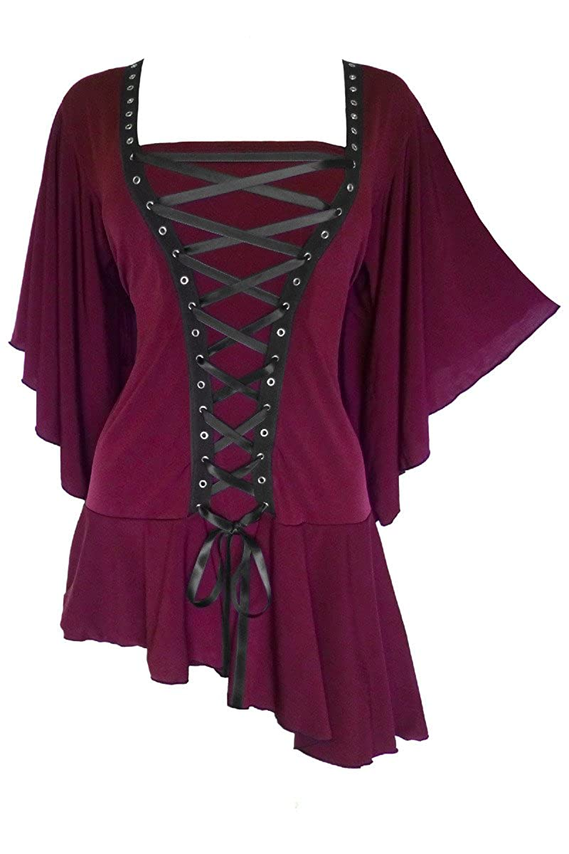 Dare to Wear Victorian Gothic Boho Women's Plus Size Alchemy Corset Top FC27