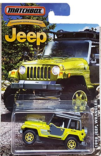MATCHBOX LIMITED EDITION JEEP ANNIVERSARY EDITION GREEN 1998 JEEP WRANGLER DIE-CAST by Matchbox (Box Diecast)