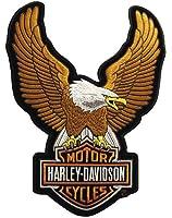 Harley-Davidson Eagle Winged Large Brown Patch, 7-3/4/'' x 10-1/4'' EMB328394