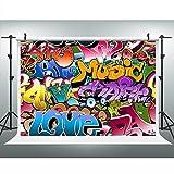 Maijoeyy 7x5ft Graffiti Backdrops Photography Backdrop Hip-Hop Vinyl Backgrounds for Photography Props H18011701