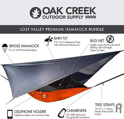 Rain Details about  /Oak Creek Lost Valley Camping HammockBundle Includes Mosquito Net