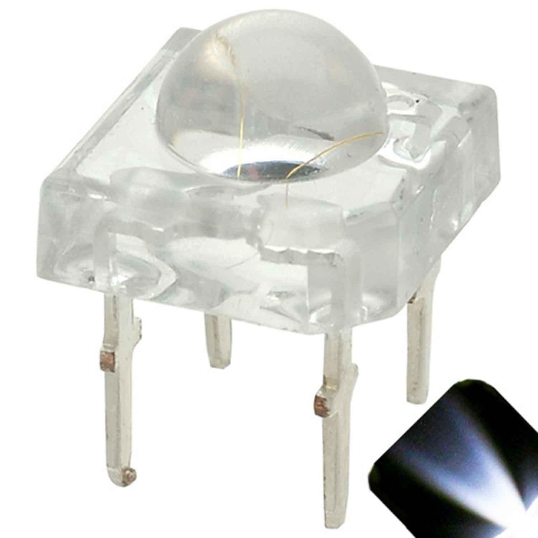 100 x 5mm Piranha Cool / Clear White LED - Ultra Bright Superflux