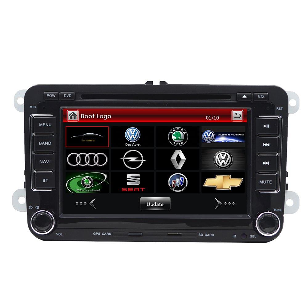 doble Din GPS 7coche reproductor de DVD para salpicadero GPS USB/SD FM AM RDS autoradio Bluetooth, para Volkswagen (VW) Golf 5 6 Polo Jetta Touran Eos ...