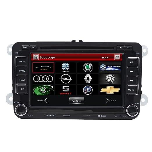 Reproductor de DVD, radio estéreo y navegador GPS doble din con pantalla de 7 pulgadas, para coche, pantalla táctil, bluetooth, unidad principal, ...