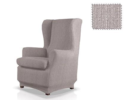 JM Textil Funda de sillón orejero elástica Bastet Tamaño 1 Plaza (Estándar), Color 06