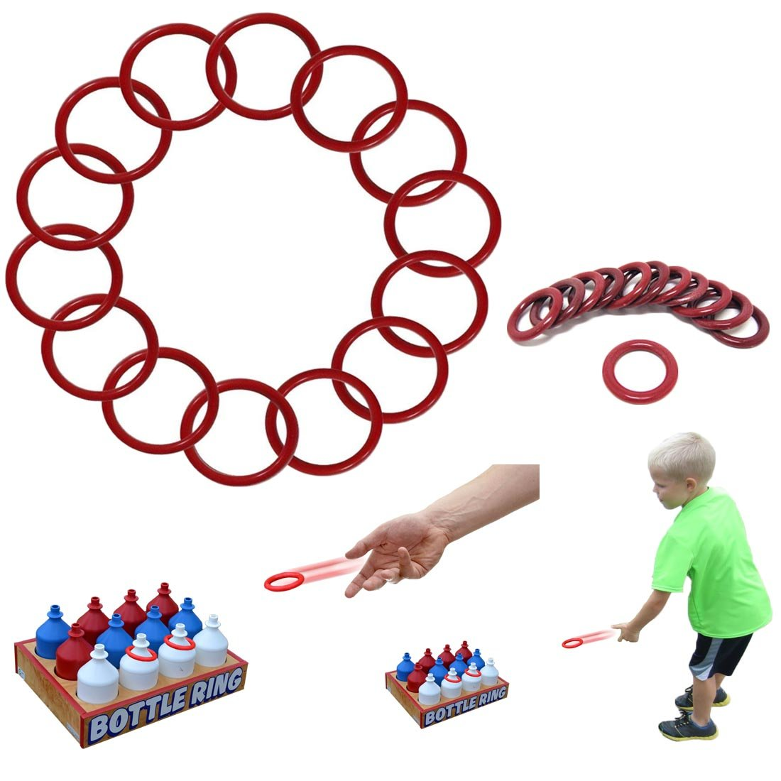 Dazzling Toys Small Ring Toss Rings - Pack of 24 (D011/2)