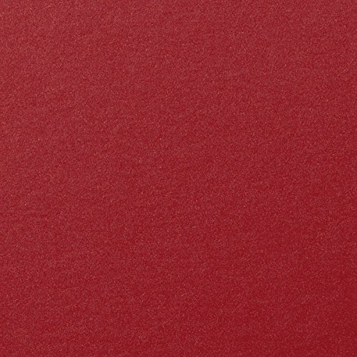 (Crimson Red Shimmery Metallic Cardstock, 8 1/2 x 11 (50 Sheets) from Paper and)