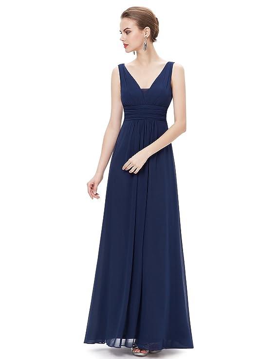 Ever-Pretty Escote en V Vestido de Noche Largo para Mujer Corte Imperio 08110: Amazon.es: Ropa y accesorios