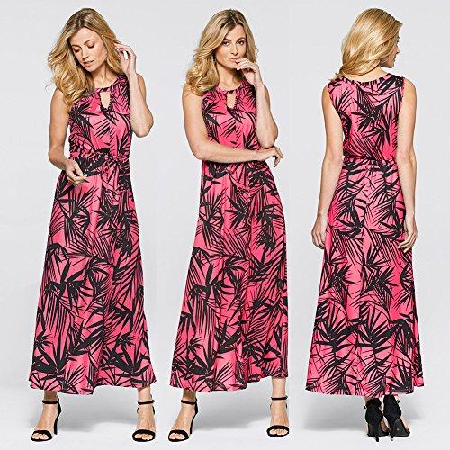 JIALELE Vestido Fiesta Mujer,De Fiesta,Vestidos Para Mujer Impresión De Hojas De Bambú Vestido Gules