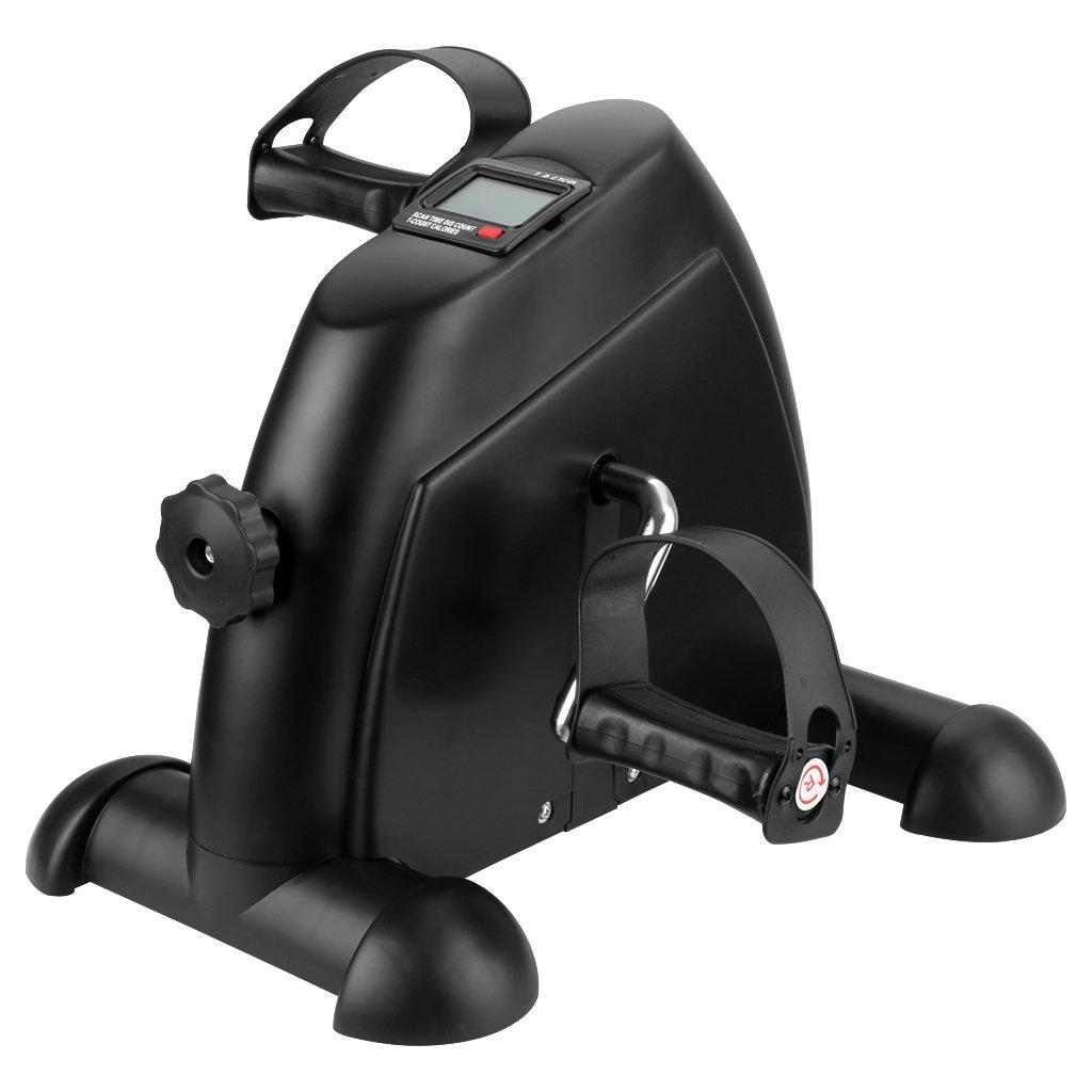 Finether Mini-Bike Heimtrainer Pedaltrainer Bewegungstrainer Arm- und Beintrainer mit LCD-Monitor einstellbarer Widerstand Fahrradtrainer Fitness-Fahrrad