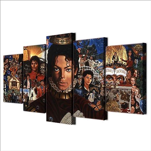 ALL SIZES MICHAEL JACKSON PREMIUM COTTON CANVAS PICTURE COLLAGE WALL ART