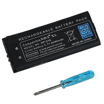 Amazon.com: TOOGOO (R) de la batería pack para DSi XL ...