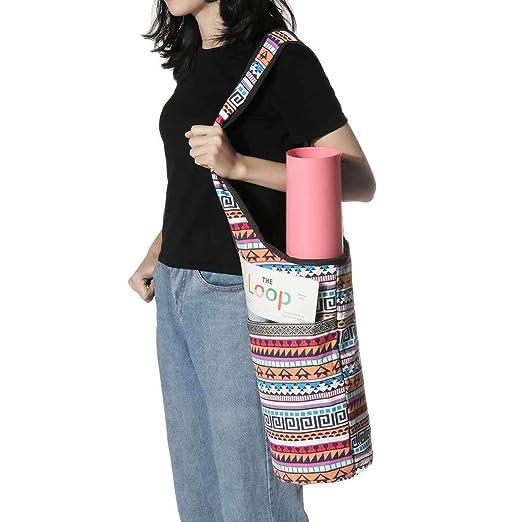 Manera de múltiples funciones Impreso-bolsa de mano Yoga Con ...