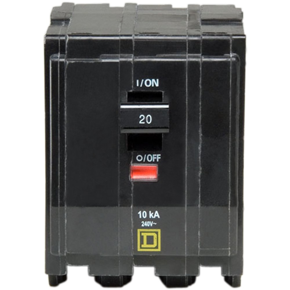 Square D by Schneider Electric QO320CP QO 20 Amp Three-Pole Circuit Breaker, by Square D by Schneider Electric