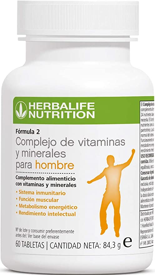 Herbalife complejo de vitaminas y minerales para hombres ...