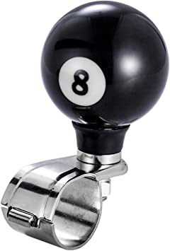 POOL BALL  # 3 STEERING WHEEL SPINNER SUICIDE KNOB