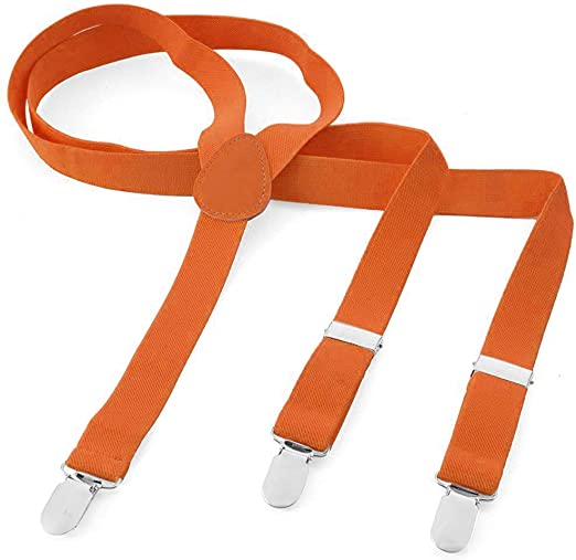 takestop® - Tirantes para Hombre y Mujer con Clip de Colores Fluorescentes Unisex en Forma de Y Fluorescente, elásticos y Ajustables Naranja Arancione: Amazon.es: Electrónica