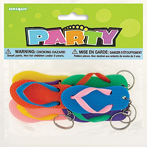 Flip Flop Keychain Party Favors, 6ct