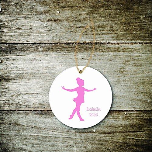 Christmas Ornament Ballerina Dancer Girl Child Pink Ballet Dance Gift