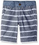 Nautica Little Boys' Textured Stripe with Chambray Trim Two Piece Short, Navy, 5
