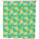 Uneekee Pineapple Tropicana Shower Curtain: Large Waterproof Luxurious Bathroom Design Woven Fabric