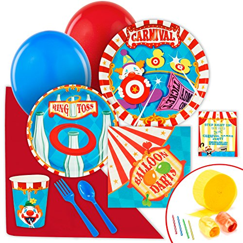 BirthdayExpress Carnival Games Party Supplies - Value Party Pack