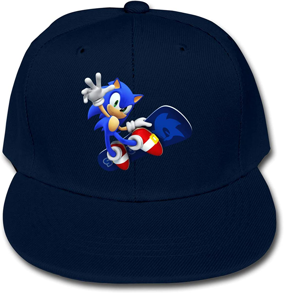 Orayh Kids Cotton Baseball Cap So-nic The Hedg-ehog Adjustable Hip-Hop Hat Outdoor Trucker Cap