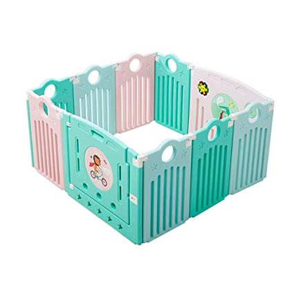 Amazon Com Hn Baby Playpen Safety Fence Guardrail Learning Walking