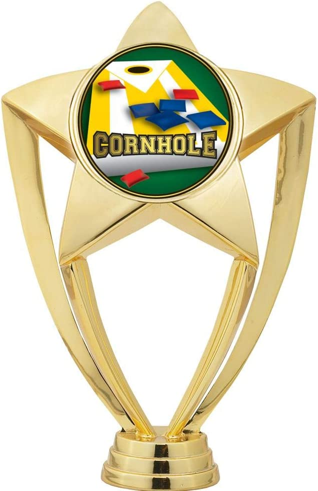 5 1//2 Starbeam Cornhole Trophy Crown Awards Cornhole Trophies Engraving Included Prime