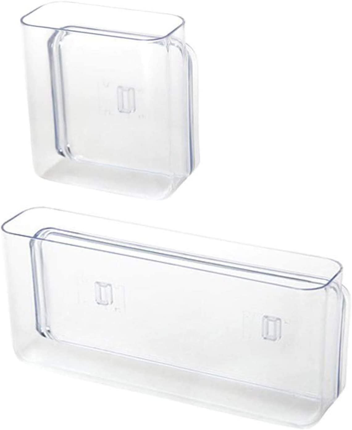 2 Pack Hanging Organizer,Wall-Mounted Plastic Storage Refrigerator or Freezer Food Storage Bins for Home, Kitchen, Bath, Bedroom, and Office