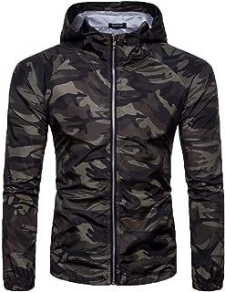 jxfd Men's Camouflage Lightweight Hooded Outdoor Sport Jackets Caot