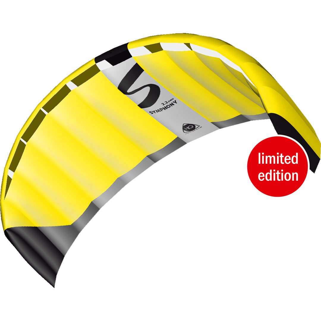 With Wrist Straps and Lines 87 Length Color: Neon Yellow HQ Kites Dual-line Outdoor Sports and Activities Foil Symphony Pro 2.2 Kite Active Outdoor Fun For Ages 14 and Up 87 Length HQ Kites Toys 11770160