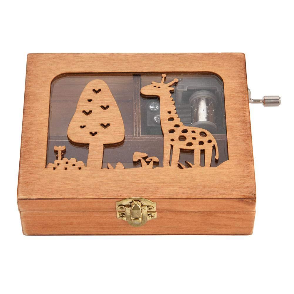【新品、本物、当店在庫だから安心】 ハンドシェイク キリン オルゴール オルゴール 森の動物 木製ボックス 彫刻 木製 ハンドクランク B07H5LRPHX オルゴール 誕生日 クラフト ギフト おもちゃ 美しい装飾 Wal front6xe1i4g0qh-01 B07H5LRPHX キリン, サンワマチ:6ad35b6d --- arcego.dominiotemporario.com