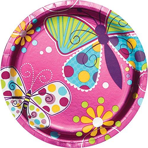Foil Butterfly Dessert Plates, 24 ct