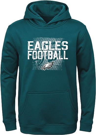 Philadelphia Eagles OuterStuff NFL Youth Girls Team Color Hooded Sweatshirt