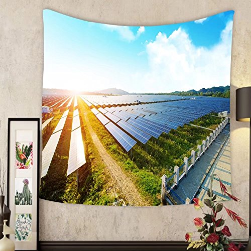 Grace Little Custom tapestry photovoltaic panels for renewable electric production navarra aragon spain by Grace Little