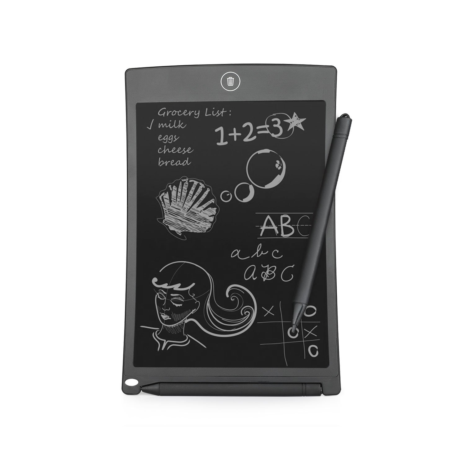 IVSO 8.5-inch LCD Writing Tablet Rewritten Digital Drawing and Writing Paperless Notepad with Easy Magic Eraser - Great for Adults, Kids and Students at Home, School or Office (Black)