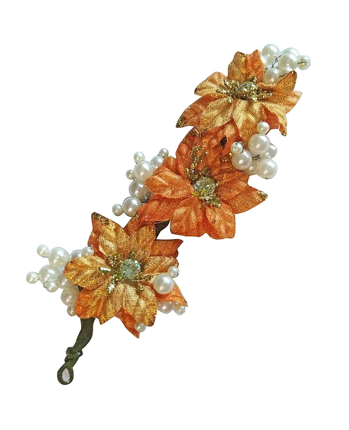 Buy Wizme New Style Hair Pins For Wedding And Party Wear Use Women Hair Accessories Peach 15 Gram Pack Of 1 Online At Low Prices In India Amazon In