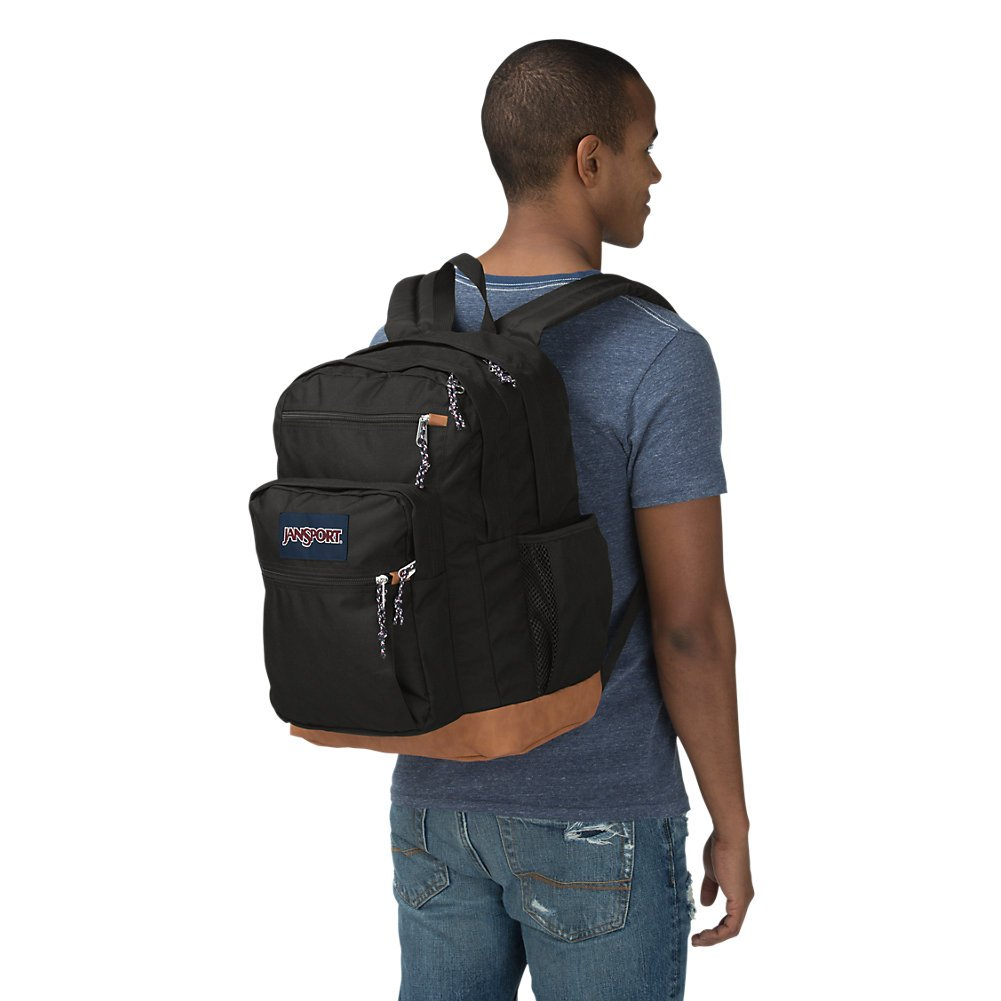 JanSport Mens Classic Mainstream Cool Student Backpack - Black / 17.7H X 12.8W X 5.5D by JanSport (Image #4)