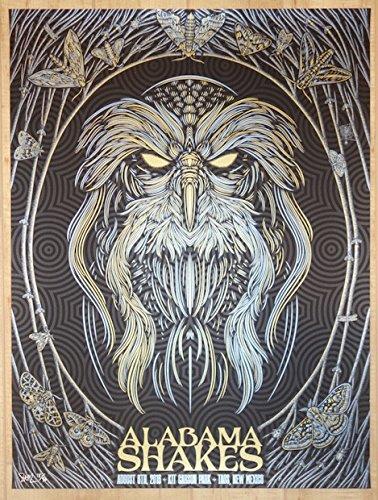(2016 Alabama Shakes - Taos Variant Silkscreen Concert Poster by Todd Slater)