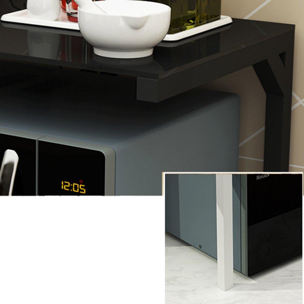 SGMYMX Mikrowellen-Regal K/üchenregale Mikrowellen-Ofenregal Mehrzweck-K/üchenregal aus geh/ärtetem Glas K/üchenregal a 55/×38/×36cm
