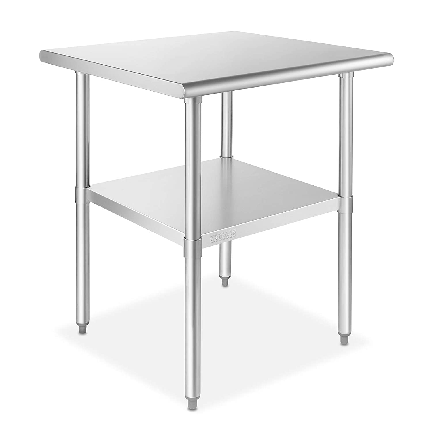 GRIDMANN 24 in. x 24 in. NSF Stainless Steel Commercial Kitchen Prep & Work Table