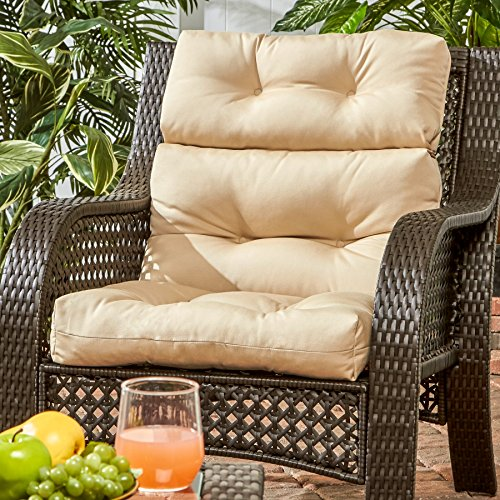 Greendale Home Fashions Outdoor High Back Chair Cushion, Stone by Greendale Home Fashions (Image #1)'