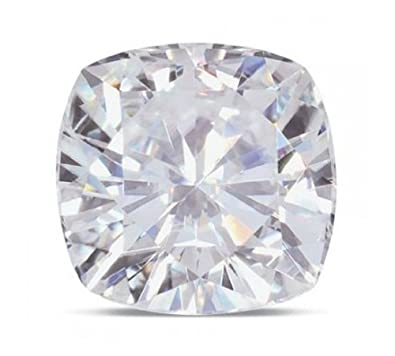 Cushion Moissanite By Charles And Colvard 81 Facet Loose Stone Very Good Cut