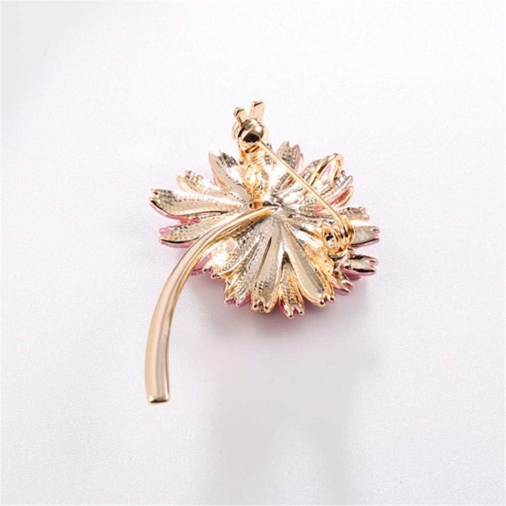 TXDIRECT Broche Femme Daisy Fleur Forme Haute Qualit/é Elegance V/êtements Accessoires Broches Cadeaux De Poitrine Foulards Ch/âle Clip Broche