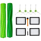 DLD Replacement Accessory Kit for i7 i7+/i7 Plus E5 E6 Vacuum Cleaner.Replacement Parts Set (2 Set of Multi-Surface Rubber Br
