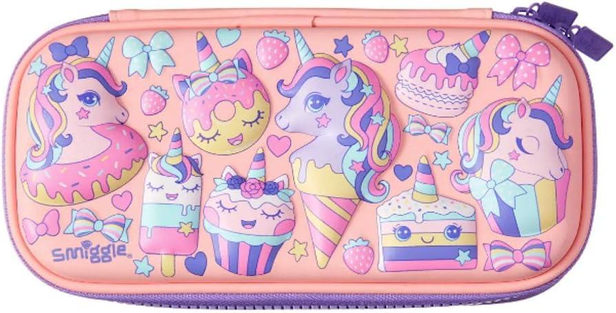 Smiggle Hippy - Estuche para lápices (tamaño pequeño), color Coral Pink Uni-Cone: Amazon.es: Oficina y papelería