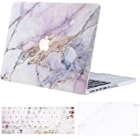 MOSISO MacBook Pro 13 Inch Case A1502 & A1425,Plastic Pattern Hard Shell Case & Keyboard Cover&Screen Protector Compatible with Older Version Mac Pro Retina 13 Release 2015 - End 2012,Colorful Marble